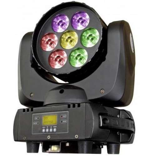 BT-W07L12 CABEZA MOVIL WASH LED 7 X 12W RGBW BRITEQ