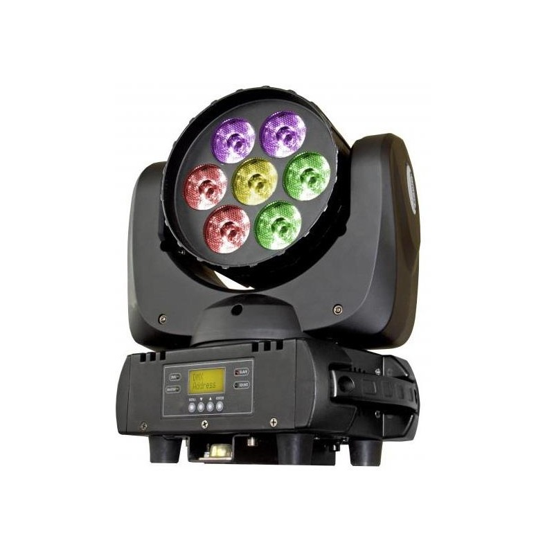 BT-W07L12 CABEZA MOVIL WASH LED 7 X 12W RGBW BRITEQ