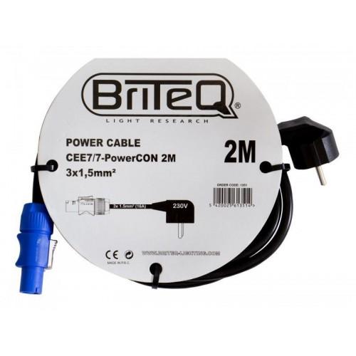 CABLE ALIMENTACION CEE7/7-PowerCON 2M BRITEQ