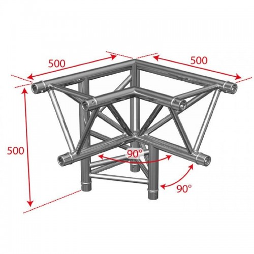 ESQUINA 3 VIAS RIGHT TRUSS TRIANGULAR TRIO 290 90º BRITEQ
