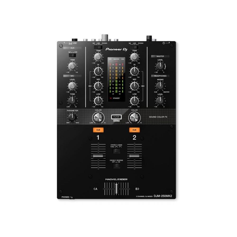 Pioneer djm 250 mk2 mesa mezcladora dj power light - Mesa dj pioneer ...